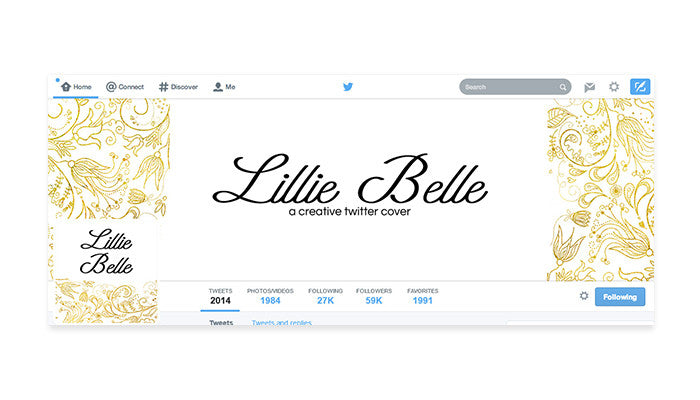 Twitter Cover with Profile Picture - Lillie Belle