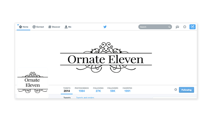 Twitter Cover with Profile Picture - Ornate 11