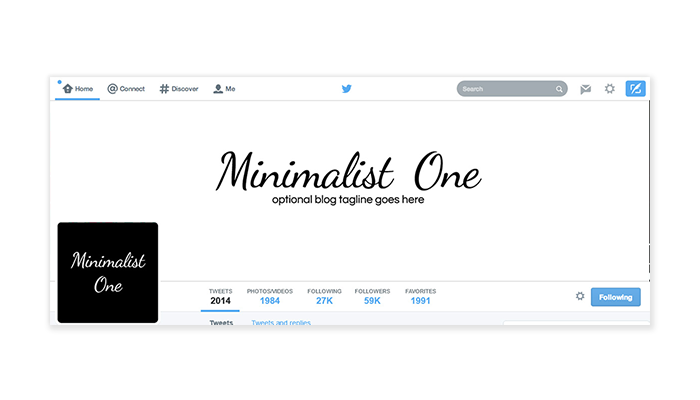 Twitter Cover with Profile Picture - Minimalist One