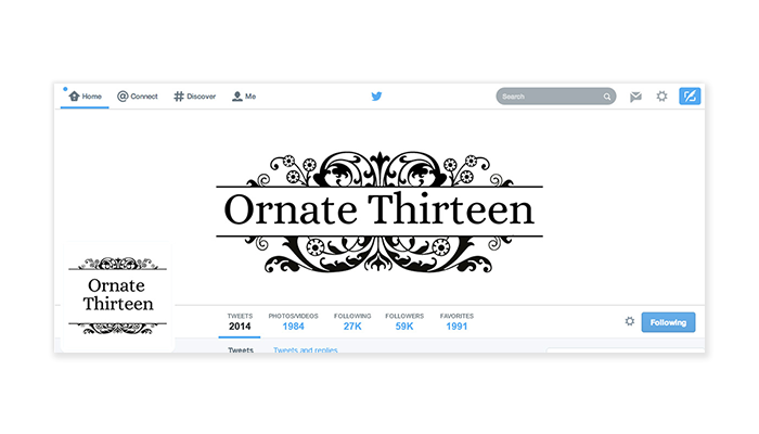 Twitter Cover with Profile Picture - Ornate 13