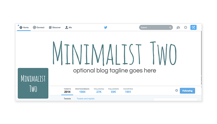 Twitter Cover with Profile Picture - Minimalist 2A