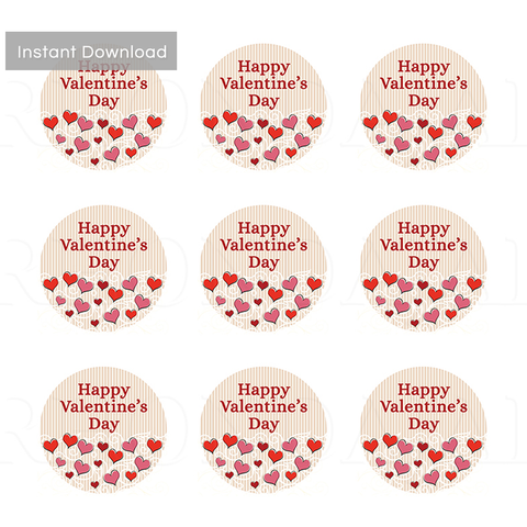 Valentine's Day Label or Hang Tag Design -  2 Inch Label Design Valentine - PS 3