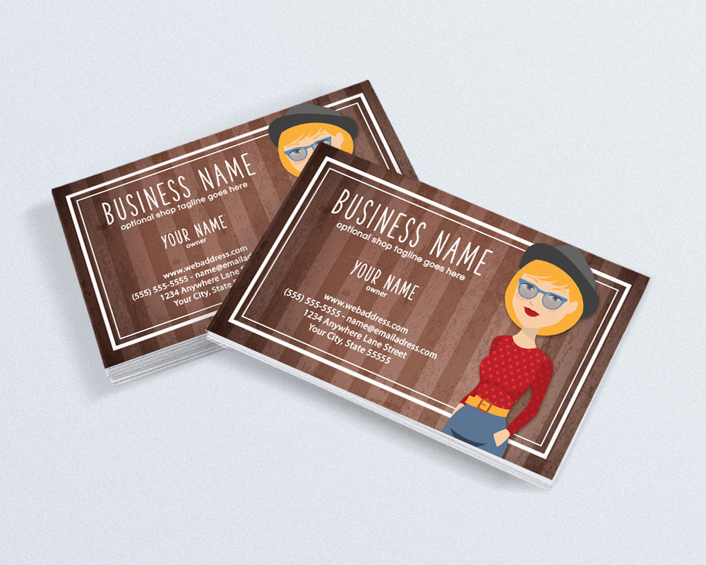 Vintage Business Card Design - Retro Business Card Design - Business Card Template - Business Card - Angie