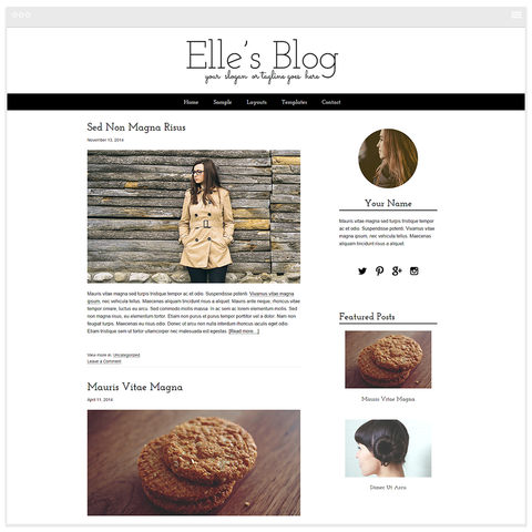 Elle - Mobile Responsive WordPress Theme - Genesis Child Theme and Framework
