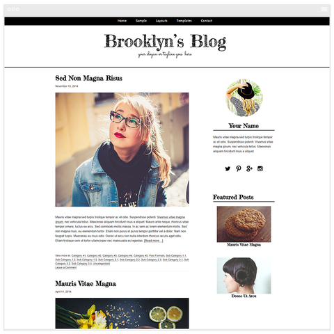 Brooklyn - Mobile Responsive WordPress Theme - Genesis Child Theme and Framework