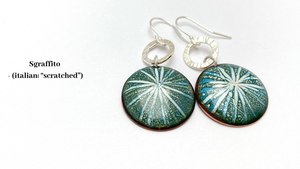 sgraffito-enamel-earrings-star-green-katie-johnston-jewellery