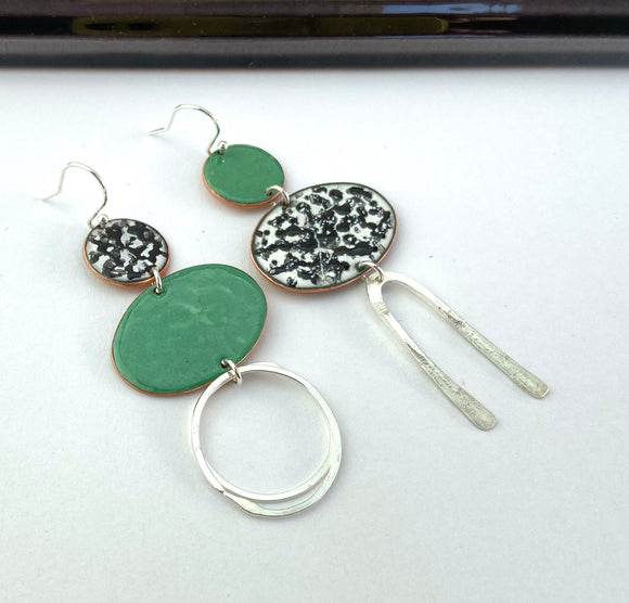 green-mismatch-enamel-geometric-earrings-katie-johnston-jewellery