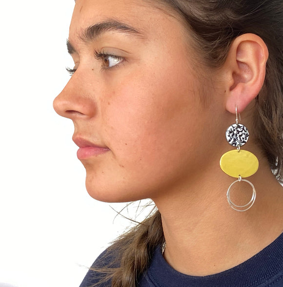 mustard-mismatch-enamel-statement-earrings-katie-johnston-jewellery