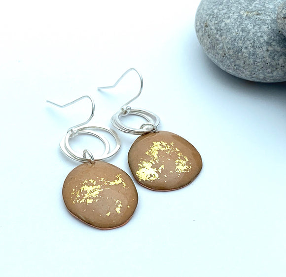 Caramel pebble  earrings