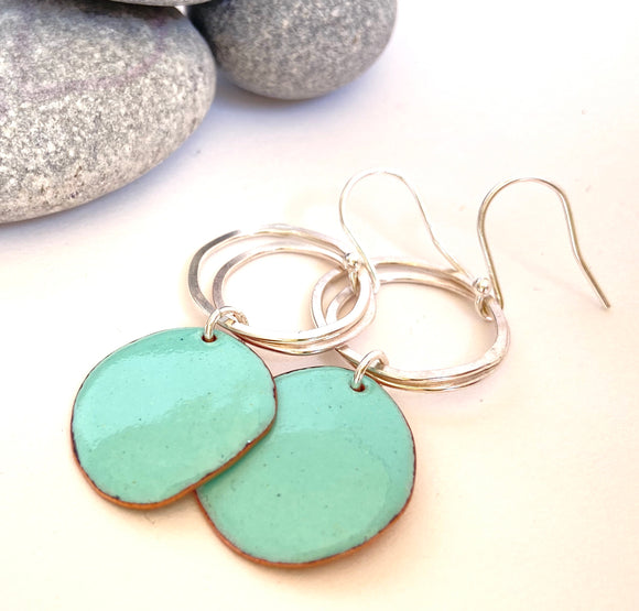 Duck egg Pebble earrings