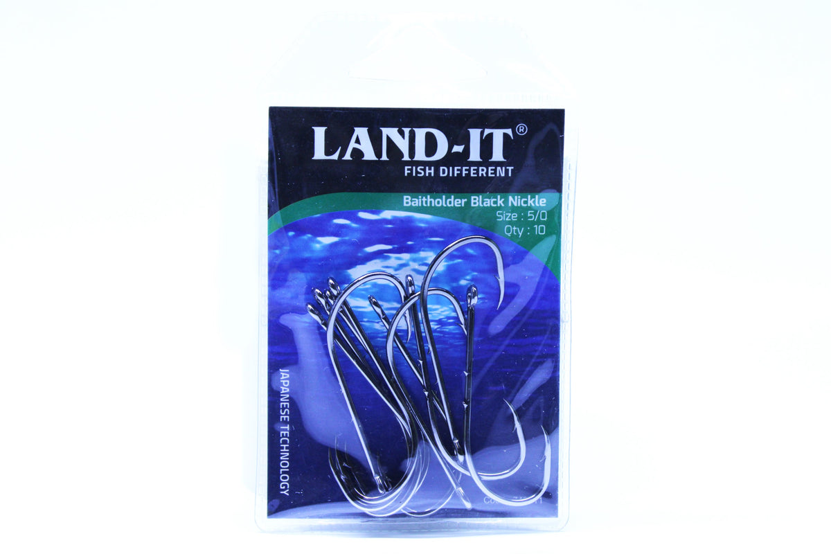 Land-it Black Nickle Baitholder Hook