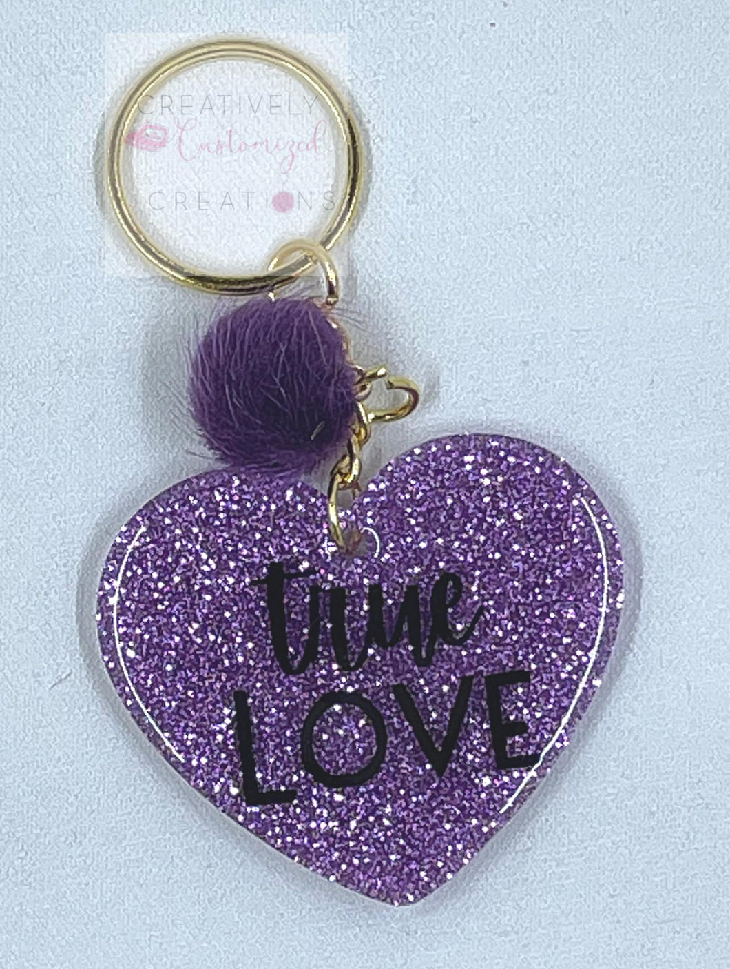 True Love Heart Keychain