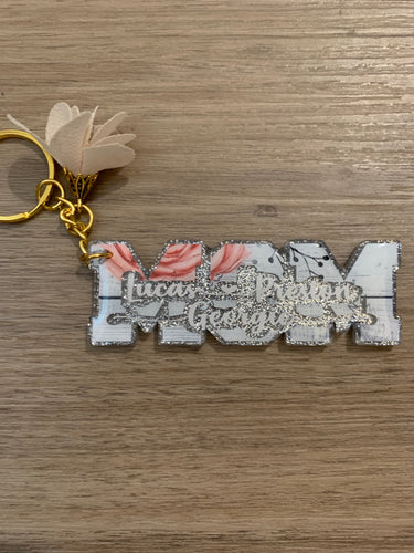 Mom Word Keychain