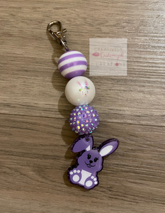 Beaded Bunny Keychain
