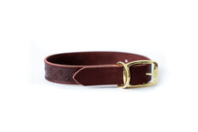 Load image into Gallery viewer, New Elegant Style Affordable European Luxury Leather Adjustable Buckle Dog Collar Made in USA
