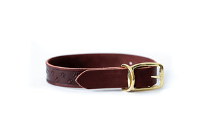 New Elegant Style Affordable European Luxury Leather Adjustable Buckle Dog Collar Made in USA