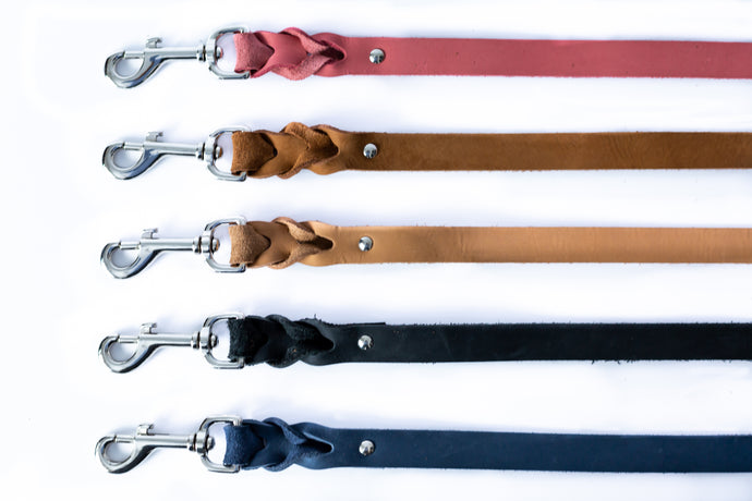New Elegant Style Affordable European Luxury Soft Leather Braided Dog Leash Made in USA