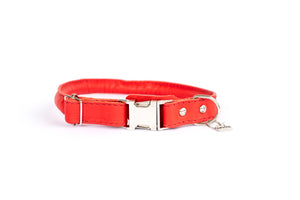 Euro Dog Soft Rolled Leather Dog Collar Quick Release Buckle Made in USA Affordable Luxury