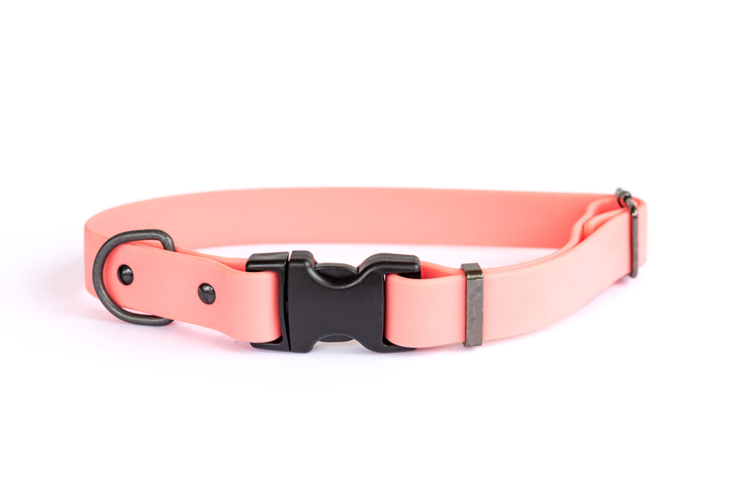 Euro Dog Waterproof Dog Collar Soft PVC Coated Nylon Quick Release Buckle Made in USA Affordable Luxury