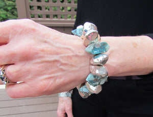 TIBETAN TURQUOISE AND SILVER Bracelet