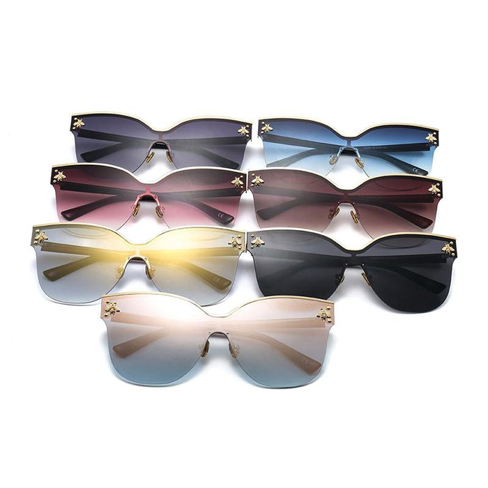 Oversize Rimless Fashion Cat Eye Sunglasses