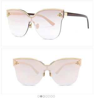 eprolo Accessorises-Glasses-Sunglasses-EyeWear-Designer Wear Oversize Rimless Fashion Cat Eye Sunglasses
