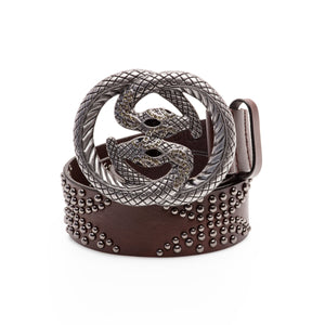Baryte Belts Hand Crafted Leather Snake Como Belt