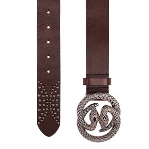 Hand Crafted Leather Snake Como Belt - Sensationally Fabulous