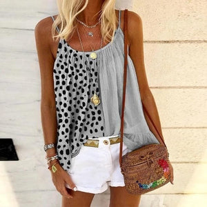 Silver Sam Clothing One Sided Polka Dot Singlet Top