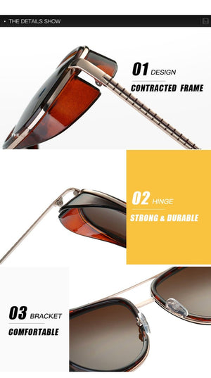 Iron Man 3 Tony Starks Designer Vintage Sunglasses - Sensationally Fabulous