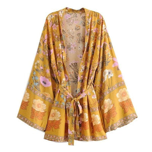 Bohemian Floral Sashes Bikini Cover Up - Sensationally Fabulous