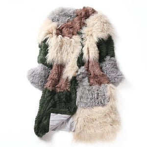 Ali Orders Clothing, Shoes & Accessories:Women:Women's Clothing:Coats, Jackets & Vests Mongolia Woollen knitted Patchwork Winter Fashion Jackets