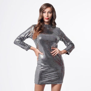 eprolo Clothing, Shoes & Accessories:Women:Women's Clothing:Dresses Celebrity Wrap Sequined Club Dresses