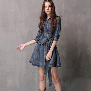 Sensationally Fabulous Clothing, Shoes & Accessories:Women:Women's Clothing:Dresses Fashion Mini Denim Dress