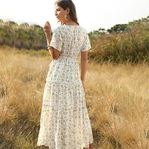 eprolo Clothing, Shoes & Accessories:Women:Women's Clothing:Dresses Floral Boho Long Summer Beach Dresses