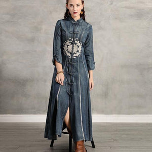 Maxi Denim Fashion Dresses - Sensationally Fabulous
