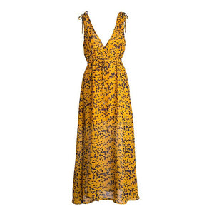 eprolo Clothing, Shoes & Accessories:Women:Women's Clothing:Dresses Yellow / S Yellow Chiffon Backless Summer Maxi Dresses