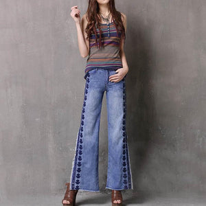 Embroidered Denim Jeans - Sensationally Fabulous