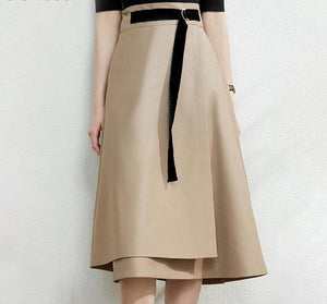 Oberlo Clothing, Shoes & Accessories:Women:Women's Clothing:Pants:Women's Skirts Wrap A Line Skirt w Belt
