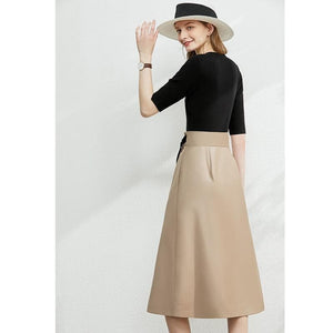 A-Line Wrap Skirt w Belt - Sensationally Fabulous