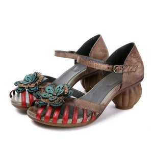 Sensationally Fab Clothing, Shoes & Accessories:Women:Women's Shoes:Sandals Shoe Size : Color : coffee / Color : Shoe Size : 5 Handmade Leather Vintage Sandals