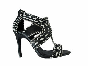 Azure Ophion Footwear US-10 / BLACK/WHITE Open Toe High Heel Shoes