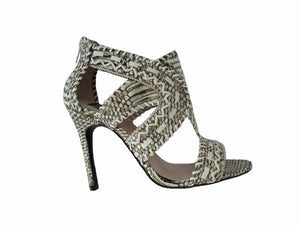 Azure Ophion Footwear US-10 / NAT SNAKE Open Toe High Heel Shoes