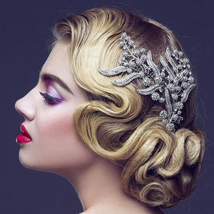 Formal Leaves Hair Comb Bridal Headpiece - Sensationally Fabulous