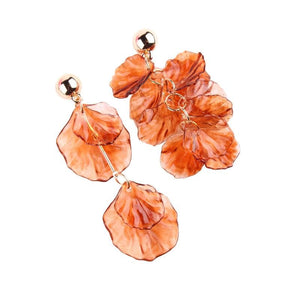eprolo Women - Jewelry - Earrings Irregular Flower Drop Dangle Earrings