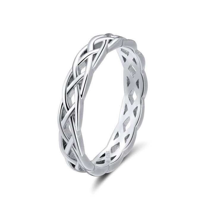 Sterling Silver Twisted Band Rings