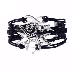 eprolo Jewellery & Watches:Fashion Jewellery:Bracelets Leather Charm Cuff Wrap Bracelet
