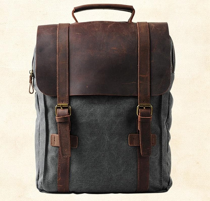 Vintage Fashion Leather Backpack