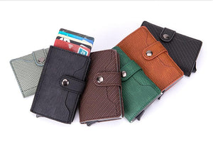 eprolo Men's - Bags - Crossbody - Fashion - Work - Shoulder - Bag - Wallets Mini PU Leather Card Holder Wallet