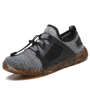 Next Chain Mens-runners-walking-sneaker fashion shoes Dark Grey / 6 Breathable Steel Cap Sneakers